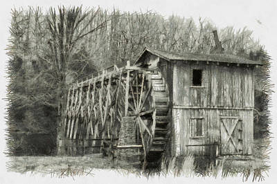 Photograph - Morgans Mill - Sketch by Nicholas Evans