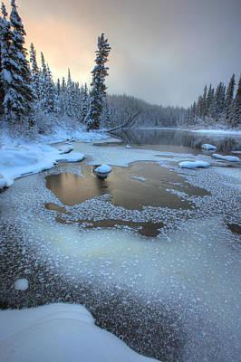 Morley River In Winter Near Teslin Art Print