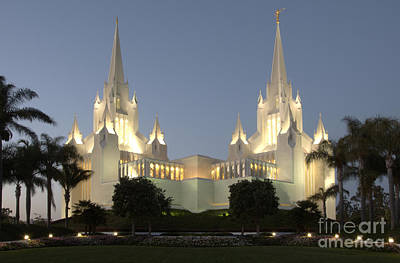 Photograph - Mormon Cathedral San Diego by Bob Christopher