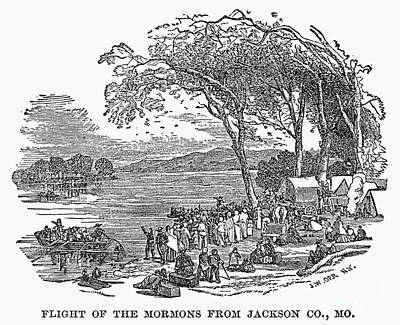 Mormon Flight, 1833 Art Print