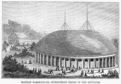 Mormon Tabernacle, 1870 Art Print
