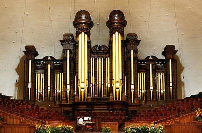 Photograph - Mormon Tabernacle Pipe Organ by Marilyn Hunt