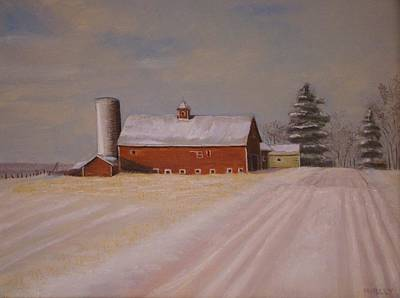 Painting - Morning After Heavy Snow by Mark Haley