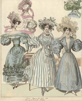 Morning And Promenade Art Print by Hulton Archive
