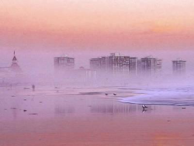 Morning At The Beach Print by Steve K