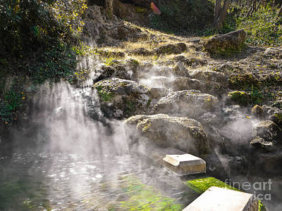 Found Round And About Photograph - Morning At The Hot Spring by Tisha  Clinkenbeard
