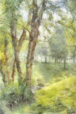 Digital Art - Morning Birches by Francesa Miller