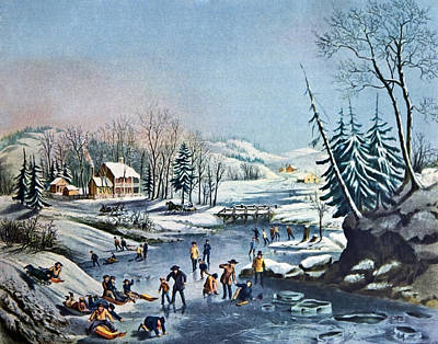 Morning By Currier And Ives Art Print by Susan Leggett