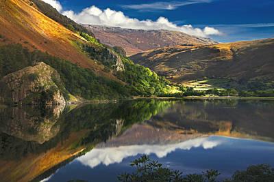 Llyn Gwynant Photograph - morning by Llyn Gwynant by Dorit Fuhg