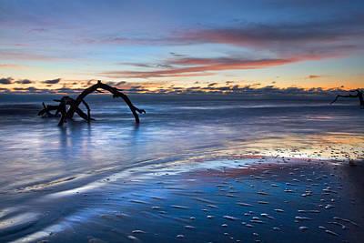 Morning Calm At Driftwood Beach Art Print by Debra and Dave Vanderlaan