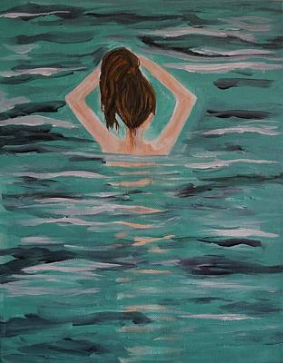 Painting - Morning Dip by Leslie Allen