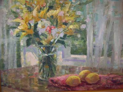 Painting - Morning Flowers. by Bart DeCeglie