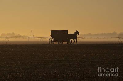 Amish Photograph - Morning Fog by David Arment