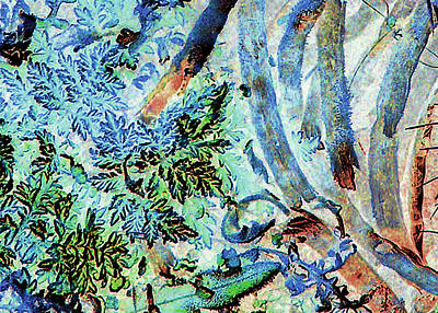 Art Print featuring the photograph Morning Frost On Engelmann Daisies And Mesquite Beans by Louis Nugent