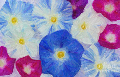 Digital Art - Morning Glory Collage by Jim and Emily Bush