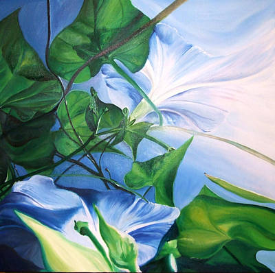 Painting - Morning Glory by Karen Hurst