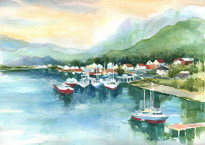 Painting - Morning Harbor by Kerry Kupferschmidt