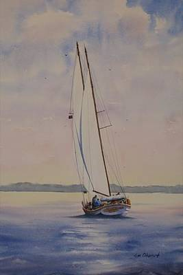 Oberst Painting - Morning In Maine by Jim Oberst
