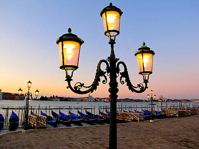 Art Print featuring the photograph Morning In Venice by Barbara Walsh