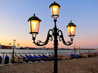 Morning In Venice Art Print by Barbara Walsh