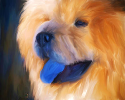 Painting - Morning Light Chow Portrait by Jai Johnson