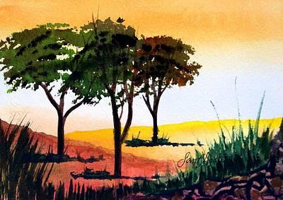 Morning Light Art Print by Frank SantAgata