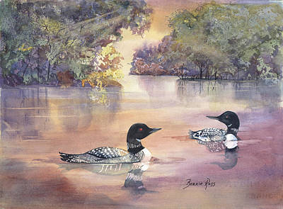 Painting - Morning Loons by Bonnie Ross