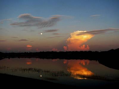 Art Print featuring the photograph Morning Moon by Bill Lucas
