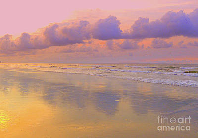 Morning On The Beach  Art Print by Lydia Holly