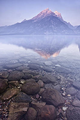 Mountains Photograph - Morning Reflection  by Andrew Soundarajan