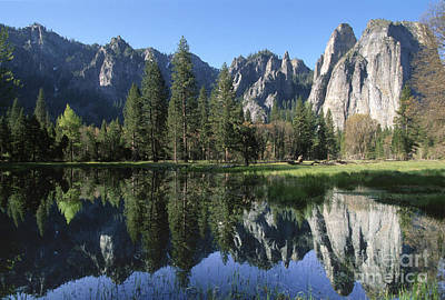Photograph - Morning Reflection At Yosemite by Sandra Bronstein