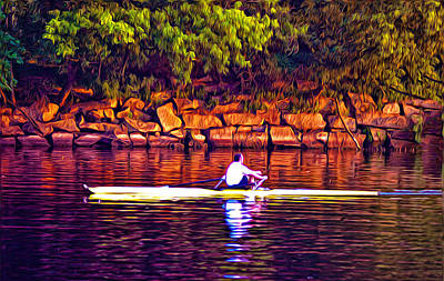 Morning Row Art Print by Bill Cannon