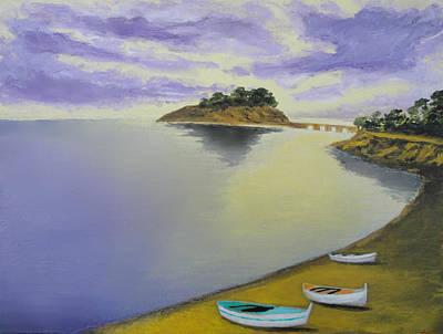 Morning Sea Art Print by Larry Cirigliano