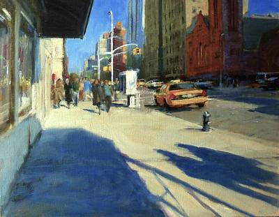 Morning Shadows On Amsterdam Avenue  Art Print by Peter Salwen