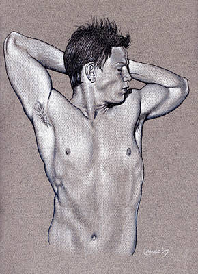 Color Pencil Drawing - Morning Stretch by Chance Manart