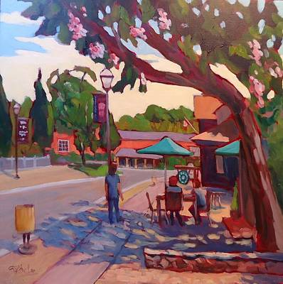 Wall Art - Painting - Morning Stroll by Edward Abela