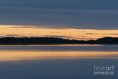 Morning Sun Rising At Arctic Sea Print by Heiko Koehrer-Wagner