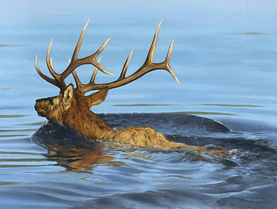 Painting - Morning Swim by Peter Eades