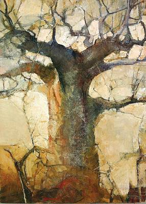 Baobab Painting - Morninglight by Wendy Rosselli