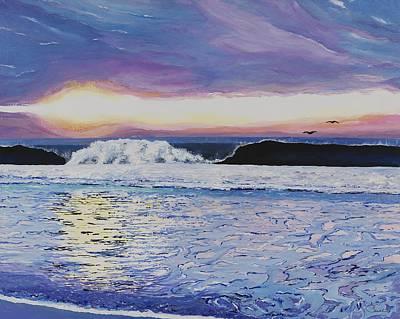 Sandbar Painting - Morning's Echo  by Shanthi  Thiruppathi