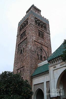 Digital Art - Morocco Pavilion Tower Epcot Walt Disney World Prints Poster Edges by Shawn O'Brien