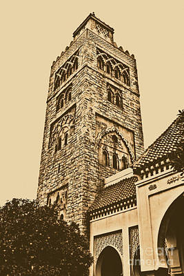Digital Art - Morocco Pavilion Tower Epcot Walt Disney World Prints Rustic  by Shawn O'Brien