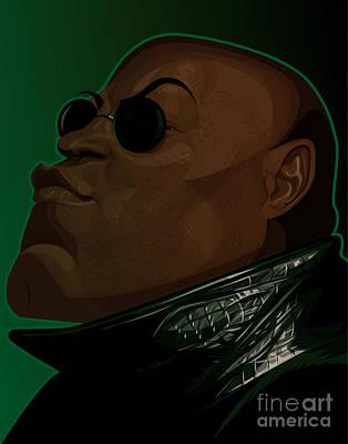 Wachowski Digital Art - Morpheus by Kevin Greene