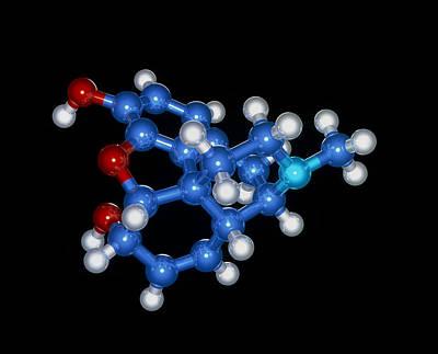Morphine Drug Molecule Art Print by Laguna Design
