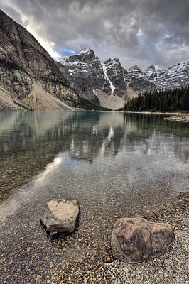Tourist Attraction Digital Art - Morraine Lake Alberta by Mark Duffy