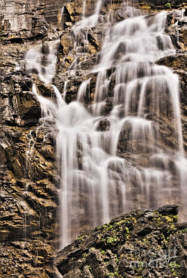 Art Print featuring the photograph Morrell Falls 1 by Janie Johnson