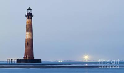 Morris Island Lighthouse Photograph - Morris Island Lighthouse Folly Beach Sc by Dustin K Ryan