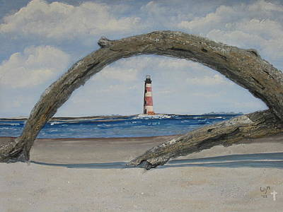 Art Print featuring the painting Morris Island Perspective by Lyn Calahorrano