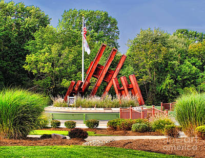 Photograph - Morris Plains September 11th Memorial by Nick Zelinsky