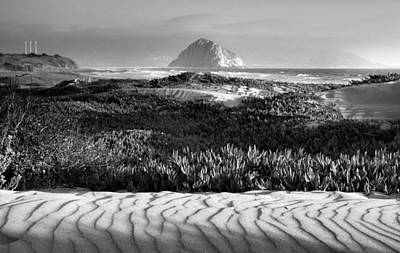Morro Rock And Beach II Art Print by Steven Ainsworth